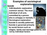 examples of sociological explanation11