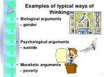 examples of typical ways of thinking