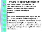 private troubles public issues13