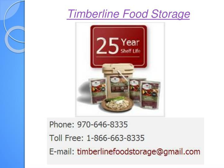 Timberline Food Storage