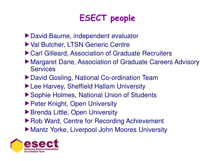 Esect people