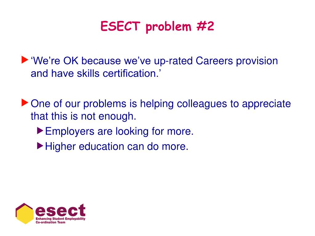 ESECT problem #2
