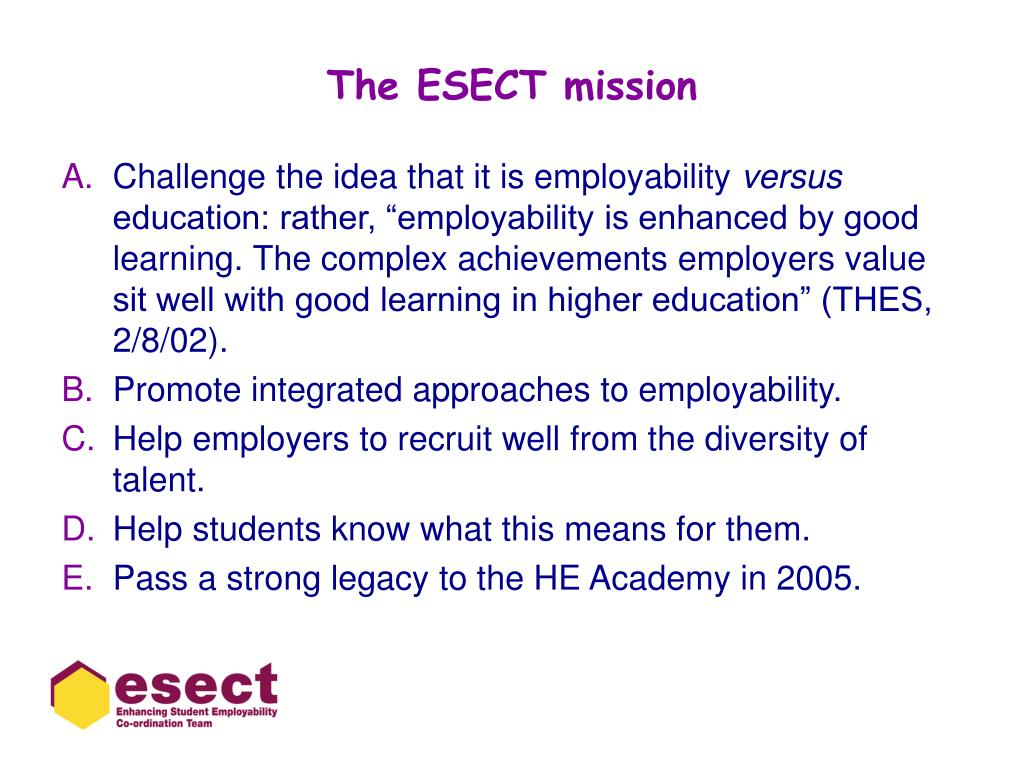 The ESECT mission