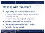 meeting with regulators