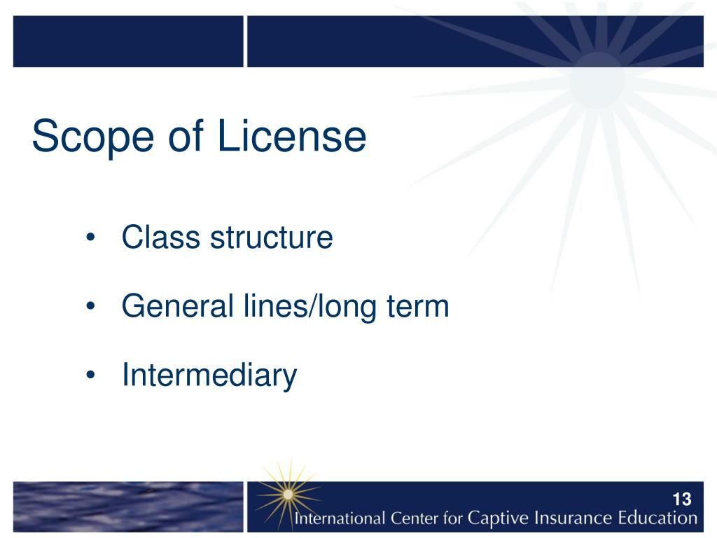 Scope of License