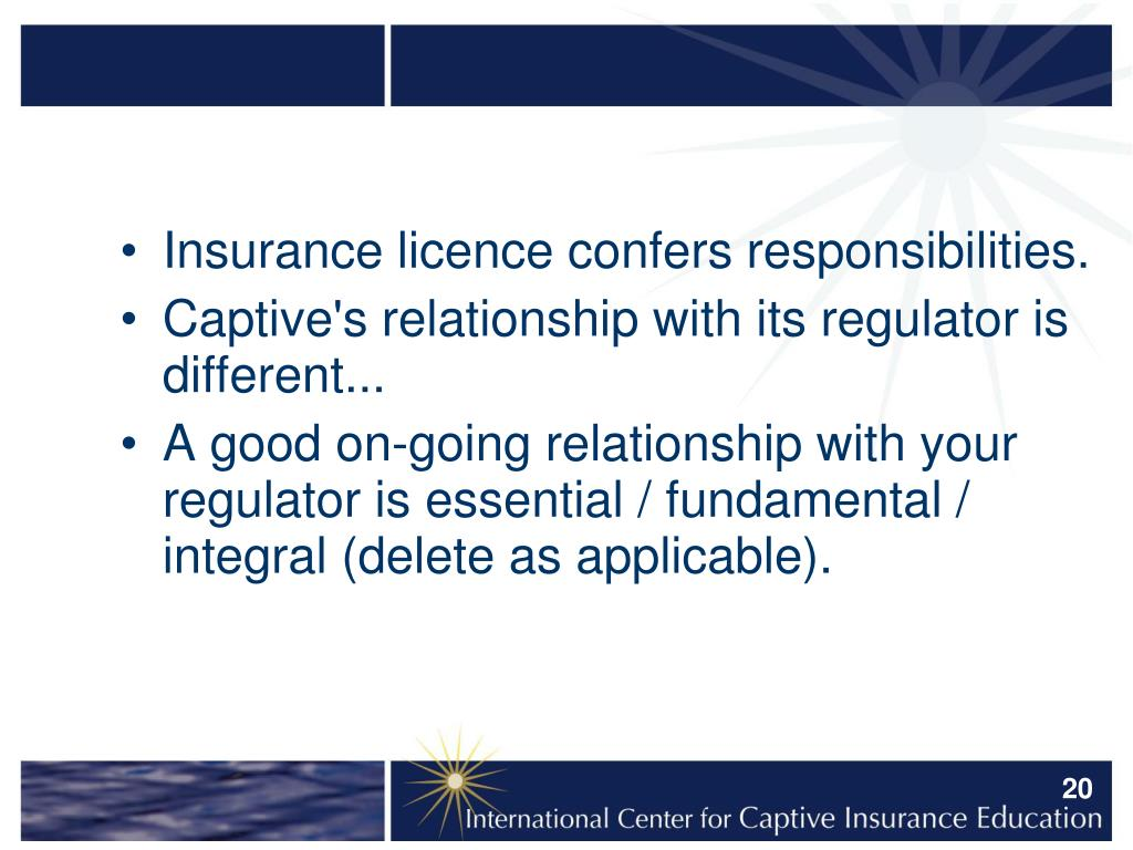 Insurance licence confers responsibilities.