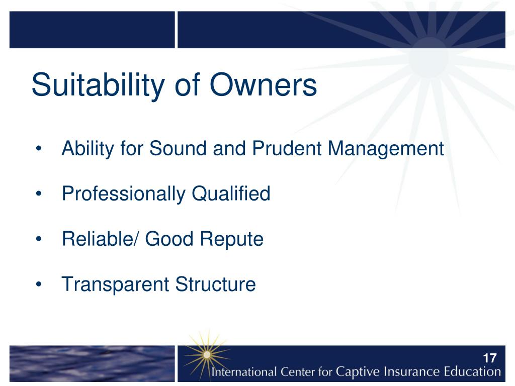 Suitability of Owners