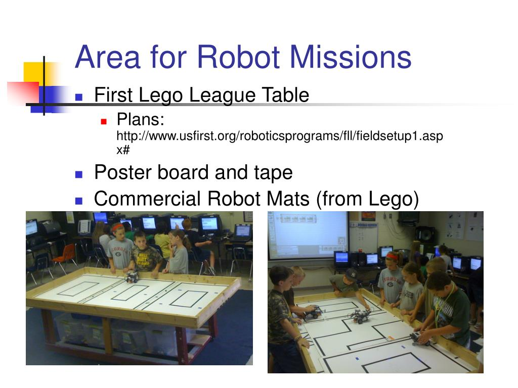 Area for Robot Missions