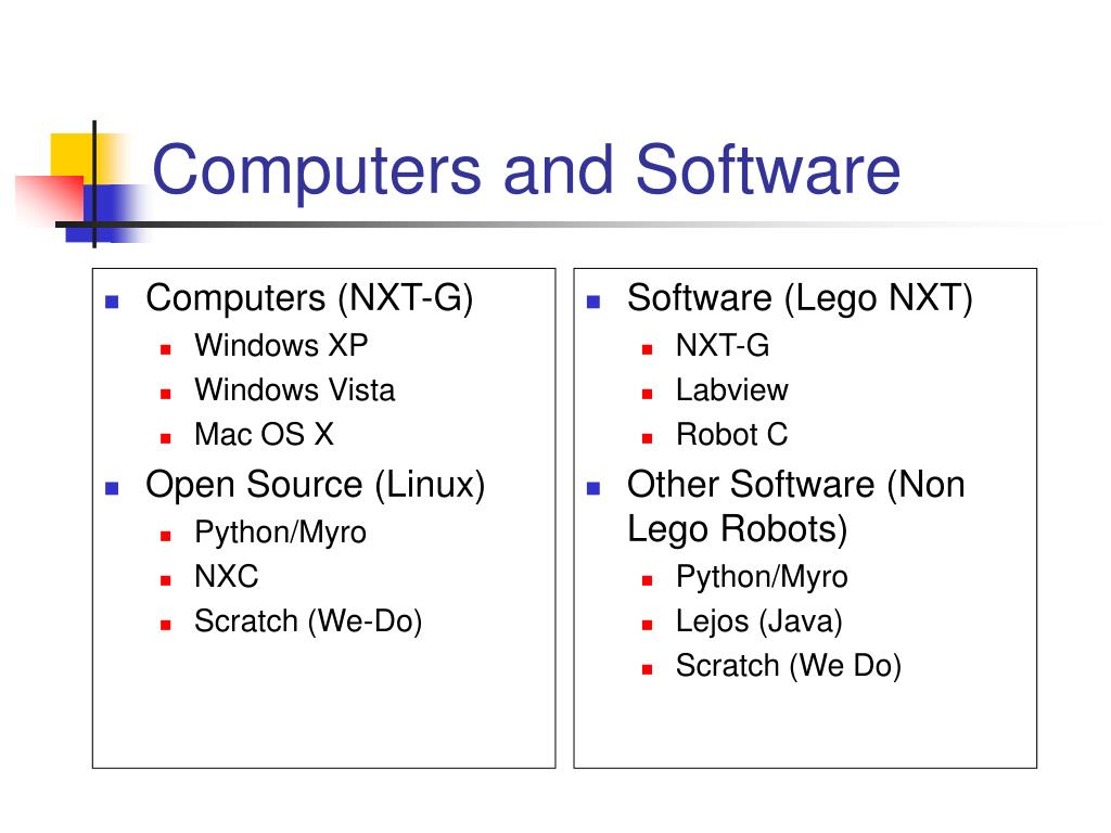 Computers (NXT-G)