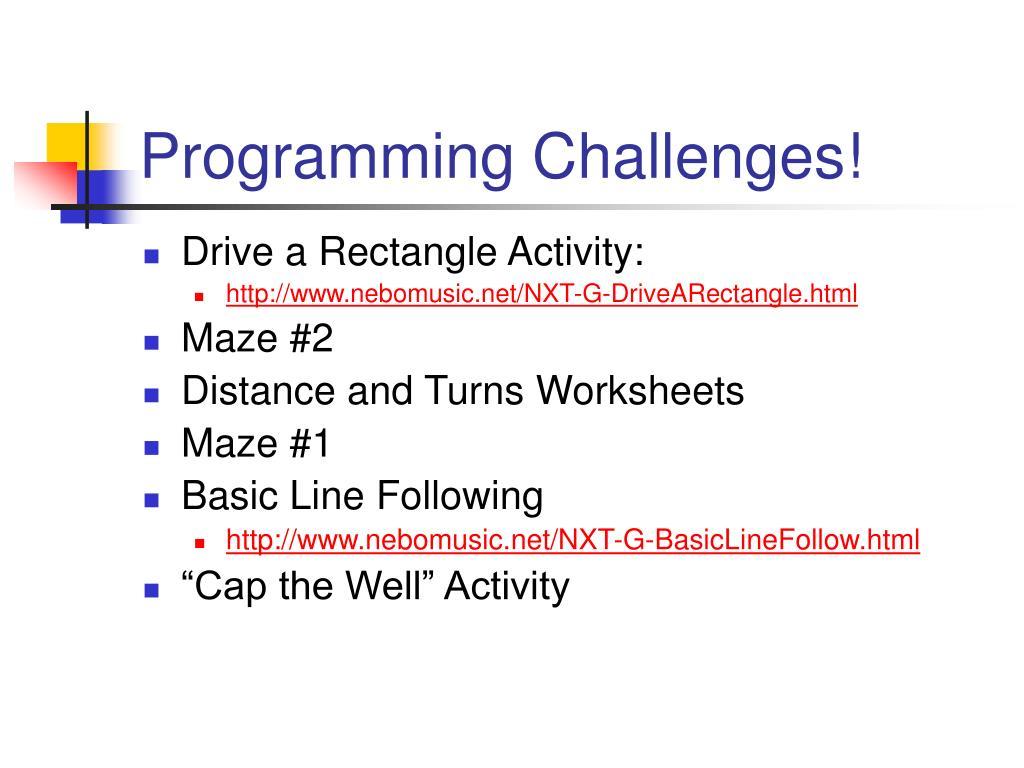 Programming Challenges!