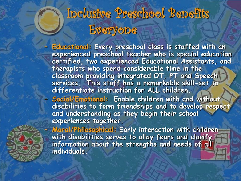 Inclusive Preschool Benefits Everyone