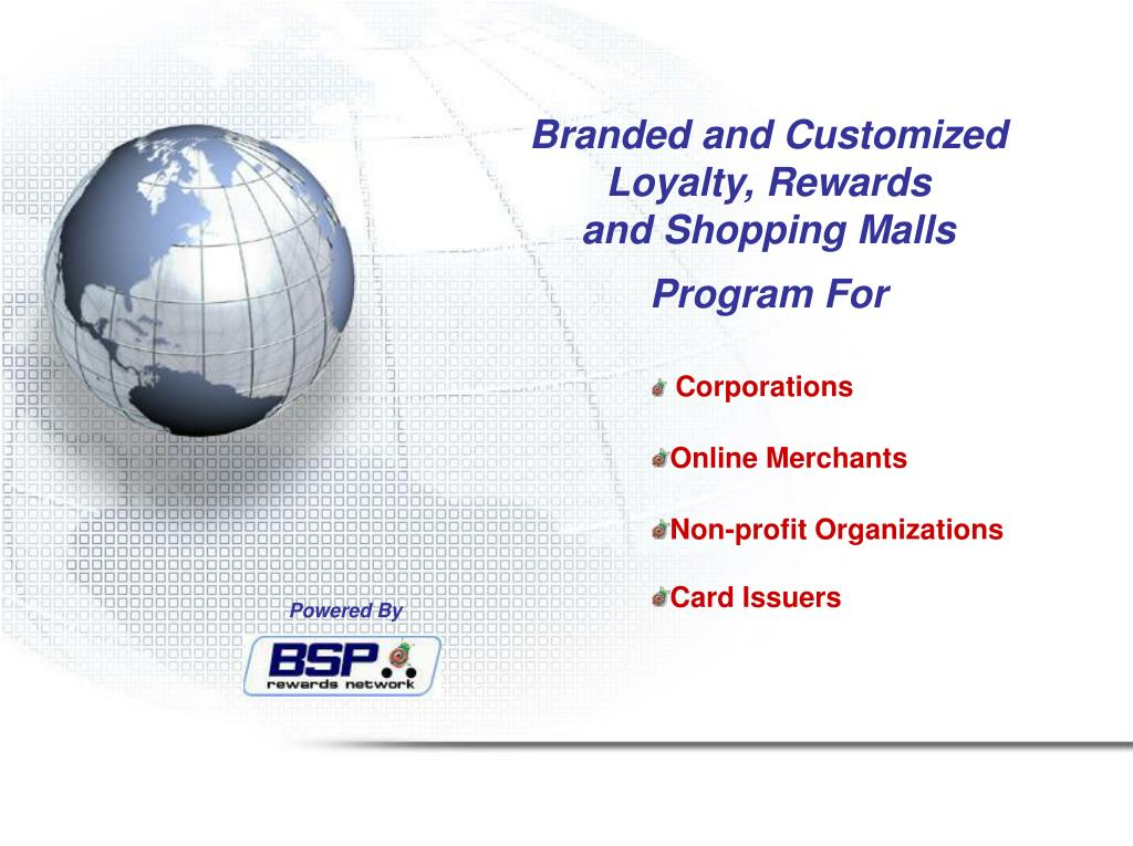 branded and customized loyalty rewards and shopping malls program for l.