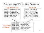 constructing ip location database