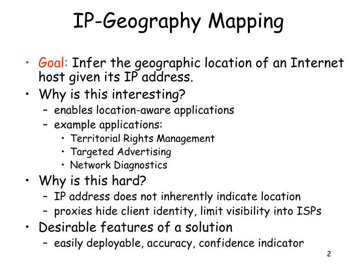 Ip geography mapping