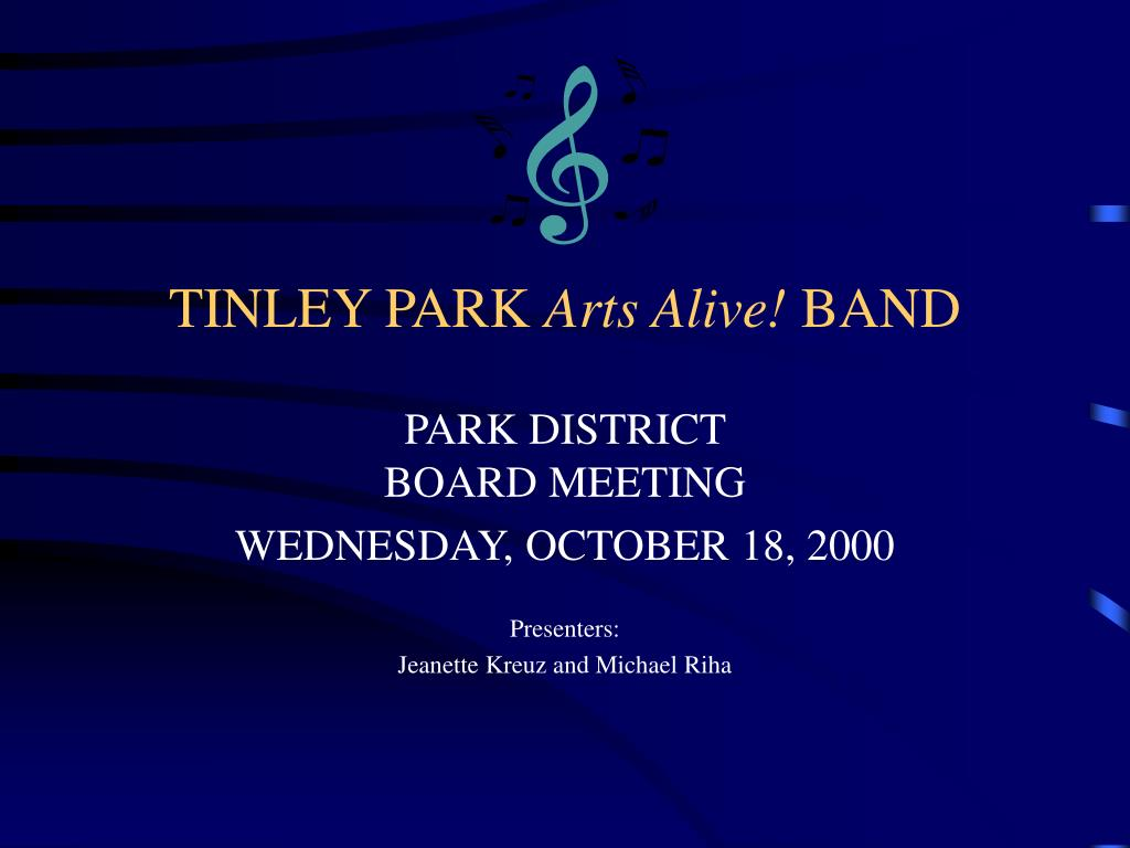 tinley park arts alive band l.