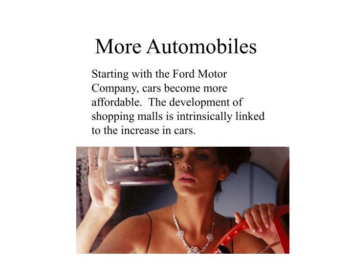 More automobiles