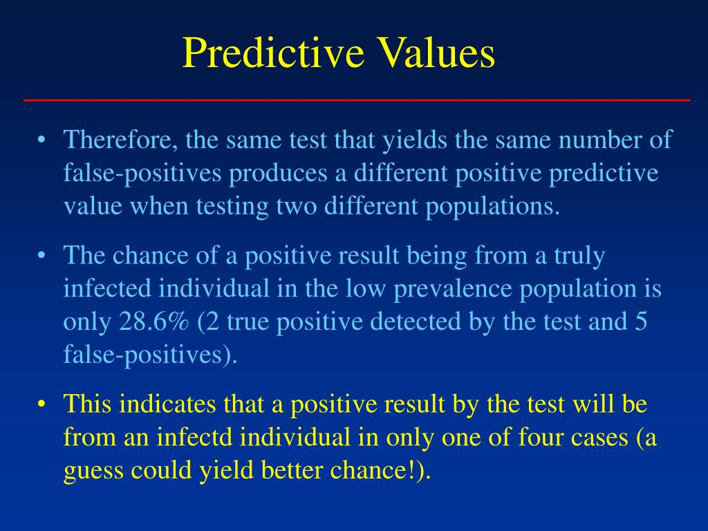 Predictive Values