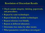 resolution of discordant results