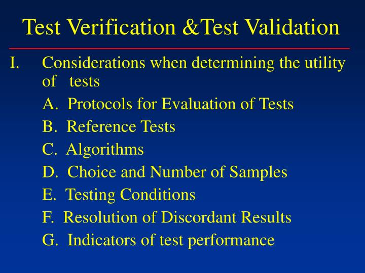 Test verification test validation3