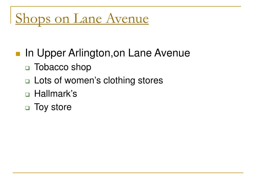 Shops on Lane Avenue