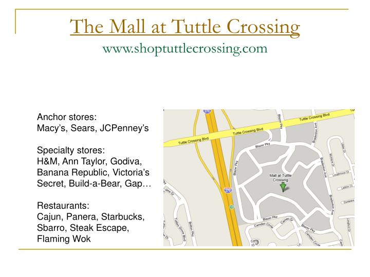 The mall at tuttle crossing www shoptuttlecrossing com