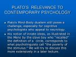 plato s relevance to cont emporary psychology