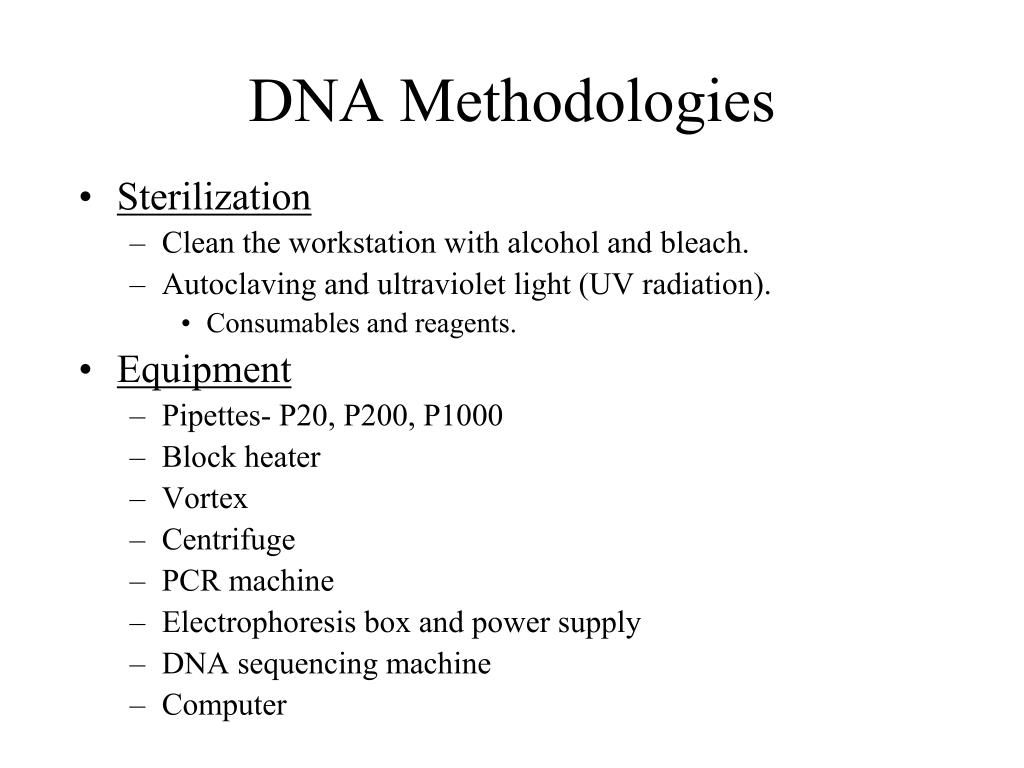 DNA Methodologies
