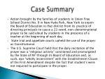 case summary