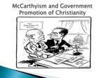 mccarthyism and government promotion of christianity