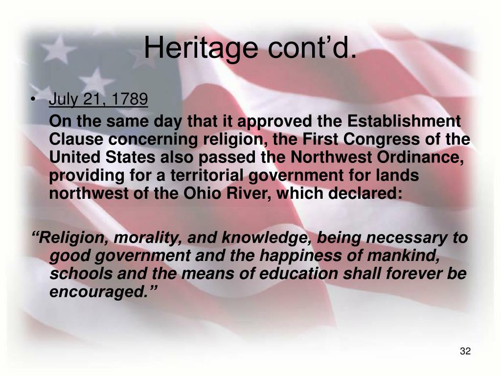 Heritage cont'd.