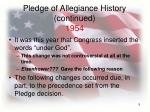 pledge of allegiance history continued 1954