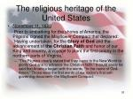the religious heritage of the united states