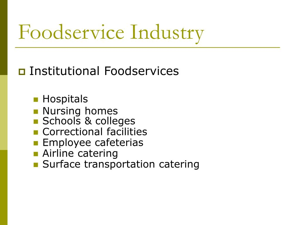 Foodservice Industry