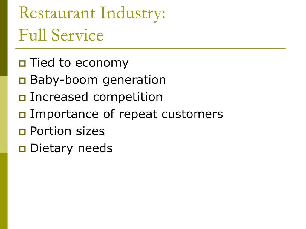 Restaurant Industry: