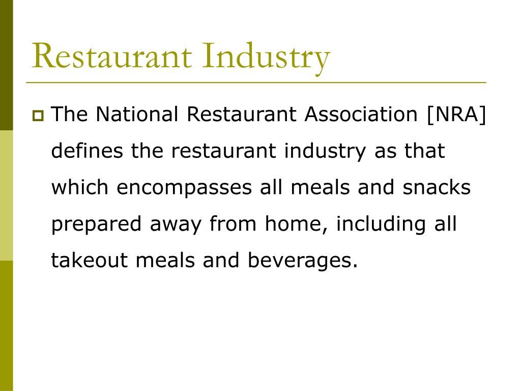 Restaurant Industry