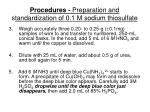 procedures preparation and s tandardization of 0 1 m sodium thiosulfate7