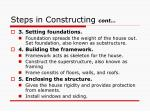 steps in constructing cont