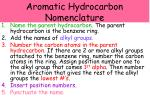 aromatic hydrocarbon nomenclature