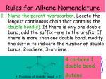 rules for alkene nomenclature