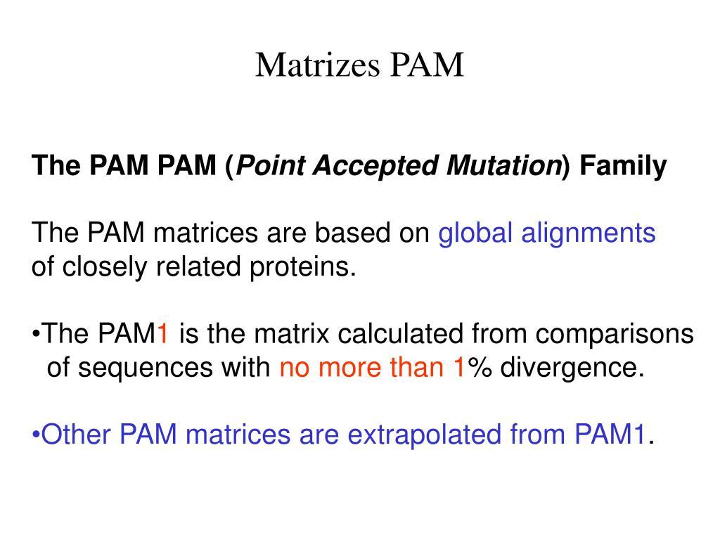 Matrizes PAM