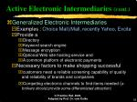 active electronic intermediaries cont