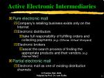 active electronic intermediaries