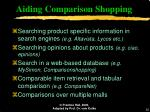 aiding comparison shopping