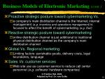 business models of electronic marketing cont10