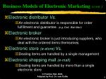 business models of electronic marketing cont9