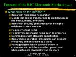 forecast of the b2c electronic markets cont6