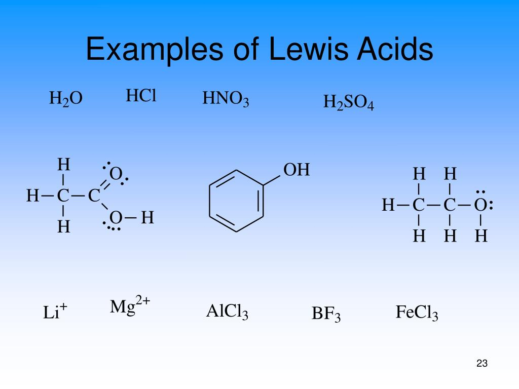 Examples of Lewis Acids