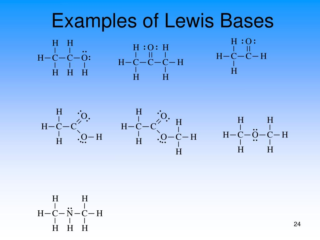 Examples of Lewis Bases