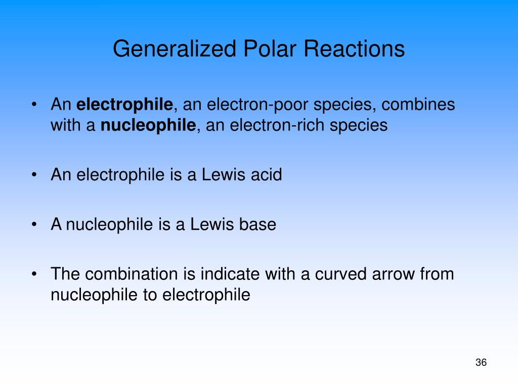 Generalized Polar Reactions