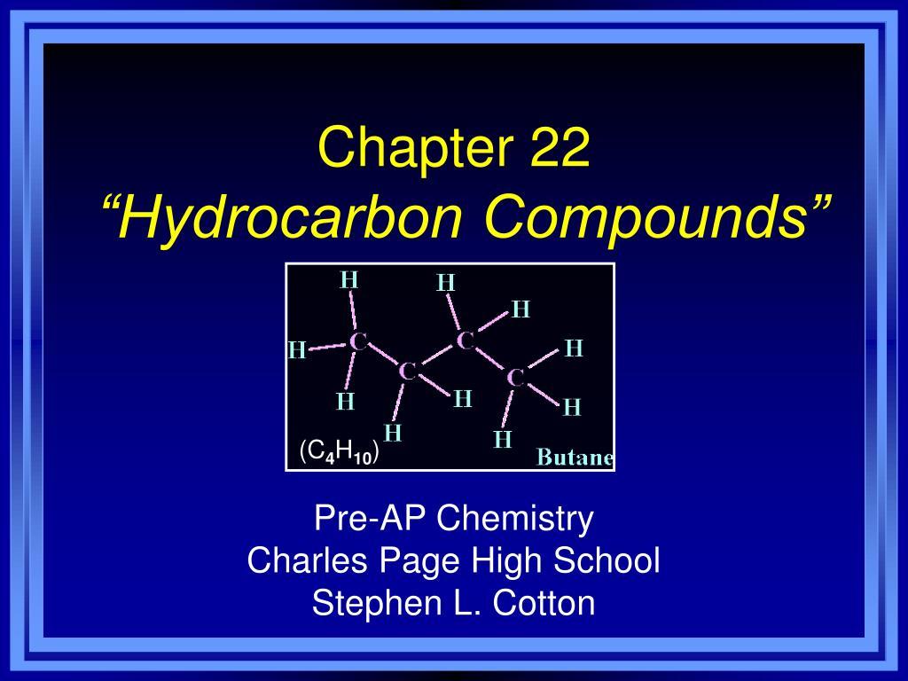 chapter 22 hydrocarbon compounds l.